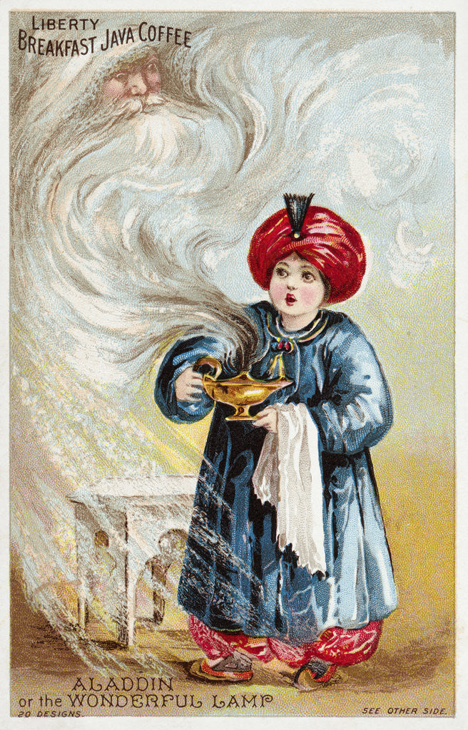 Detail of Aladdin or the Wonderful Lamp Trade Card by Corbis