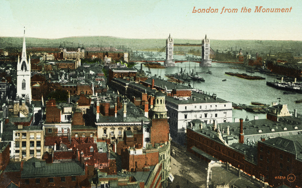 Detail of London from the Monument Postcard by Corbis