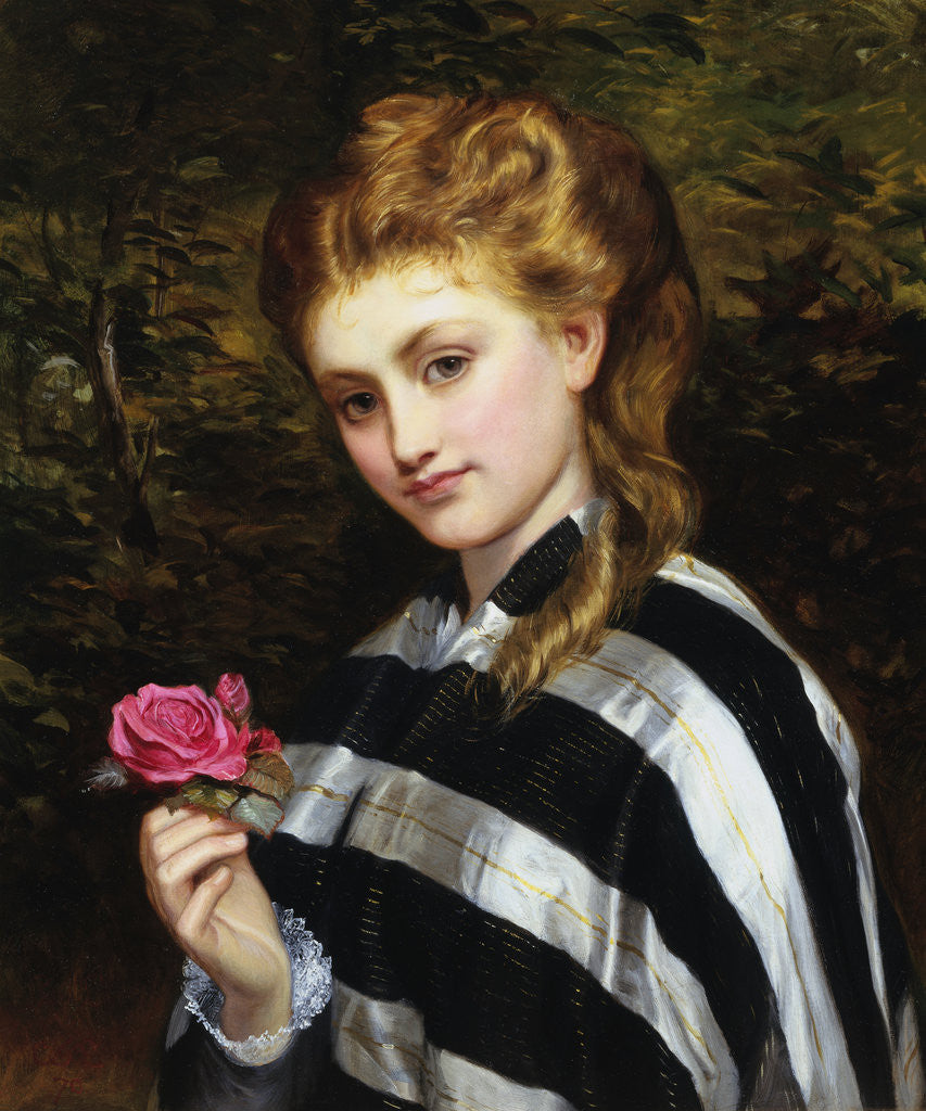 Detail of The Red Rose by Charles Sillen Lidderdale