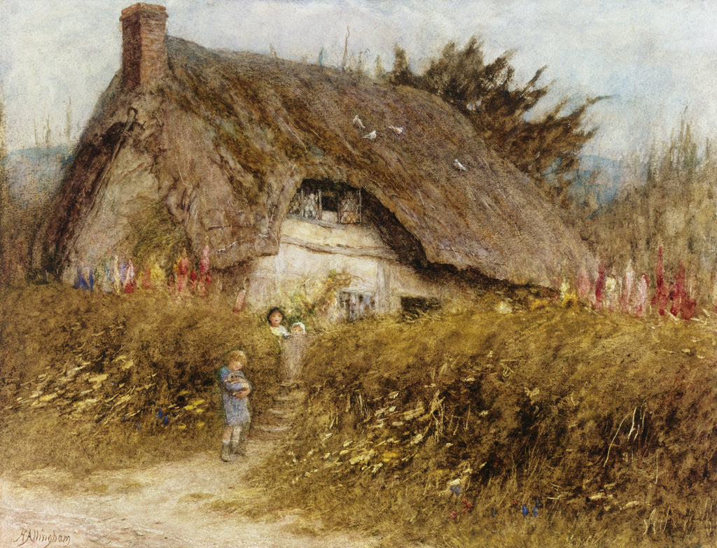 Detail of At the Cottage Gate by Helen Allingham