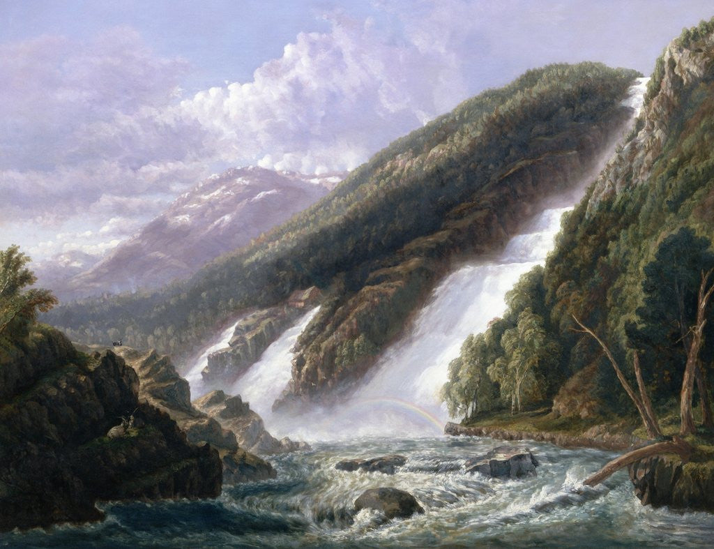 Detail of The Russell Falls, Tasmania by John Haughton Forrest