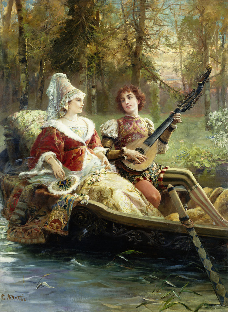 Detail of A Romantic Serenade by Cesare Agostino Detti