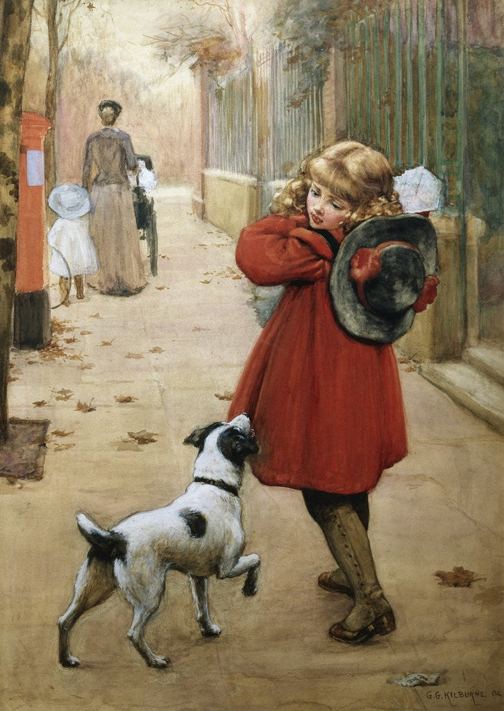 Detail of Is That for Me? by George Goodwin Kilburne