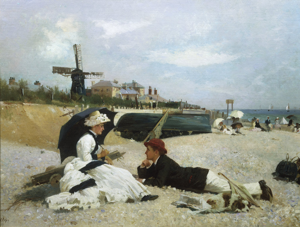 Detail of A Day by the Sea by Alexander M. Rossi