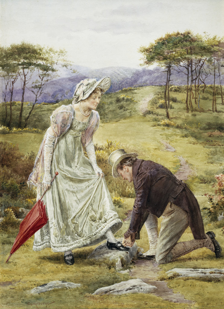 Detail of A Gentlemanly Act by George Goodwin Kilburne