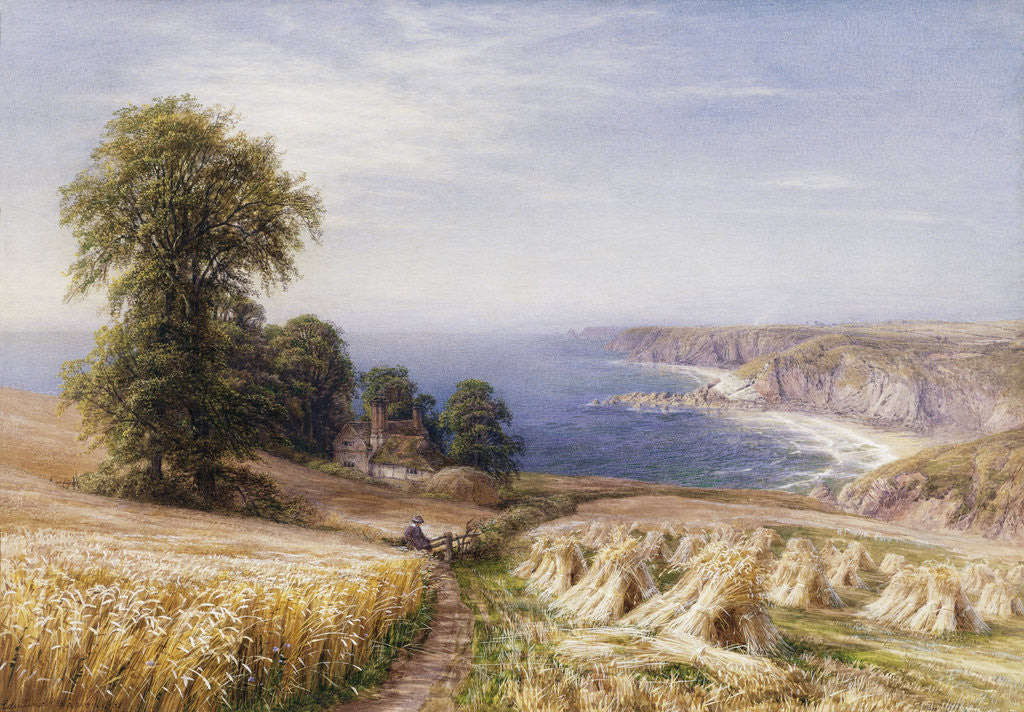 Detail of Harvesting on the Coast by Edmund George Warren