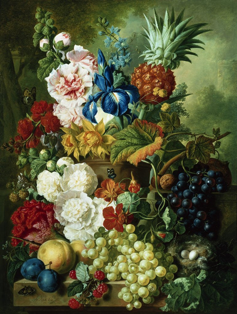 8b85632c A Rich Still Life of Summer Flowers posters & prints by Jan van Os