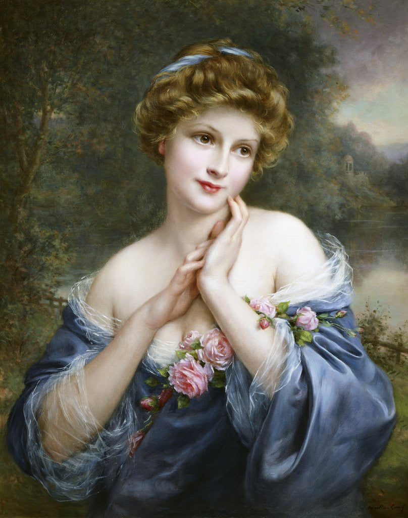 Detail of A Summer Rose by Francois Martin-Kavel
