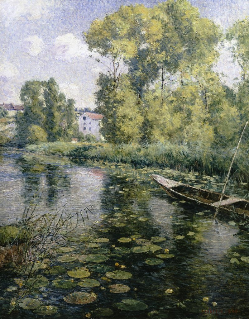 Fishing in a River in France by Frederick Charles Vipont Ede