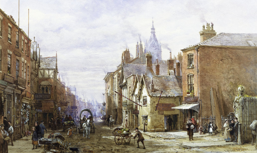 Detail of A View of Chester by Louise Rayner