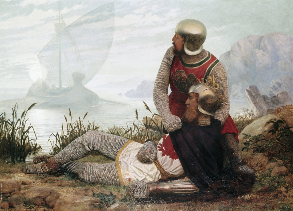 Detail of The Death of Arthur by John Mulcaster Carrick