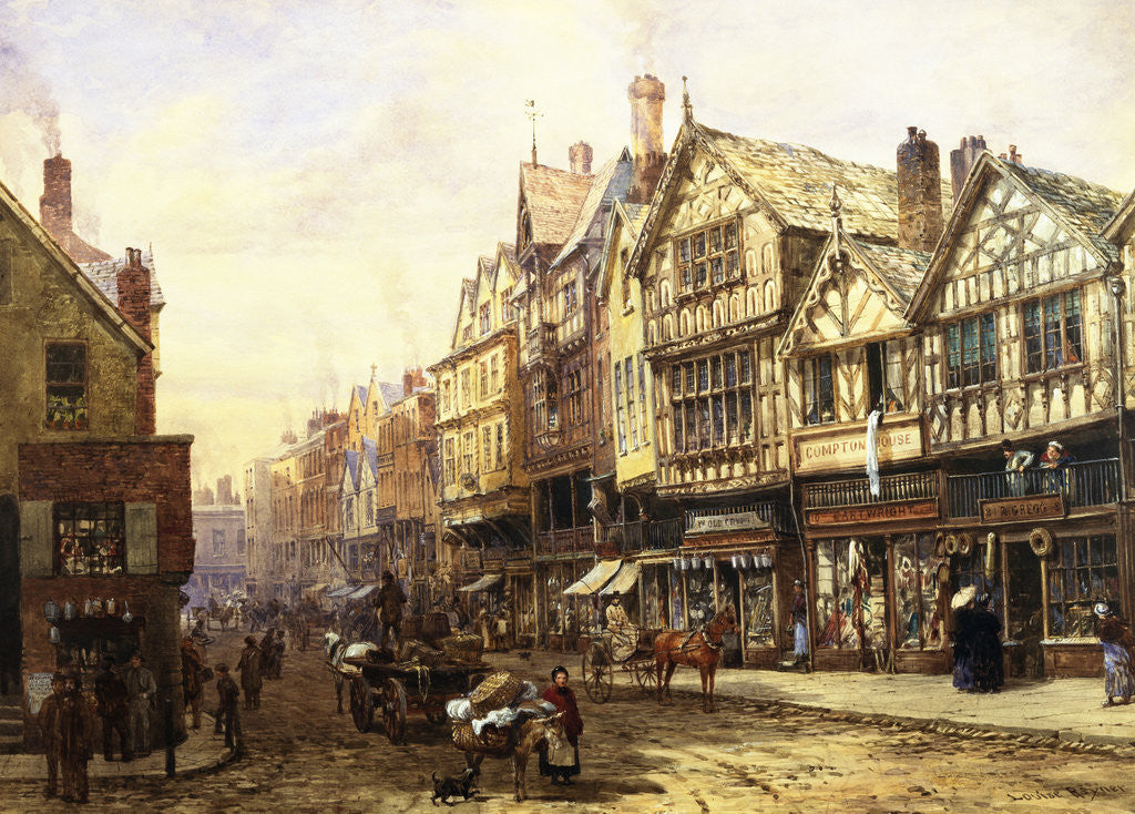 Detail of Bridge Street, Chester, England by Louise Rayner