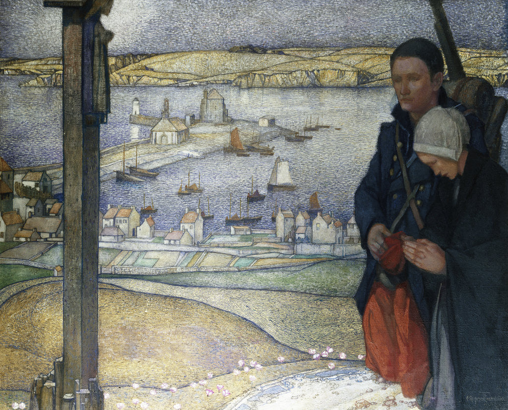 Detail of Brittany, France, 1914 by Edward Reginald Frampton