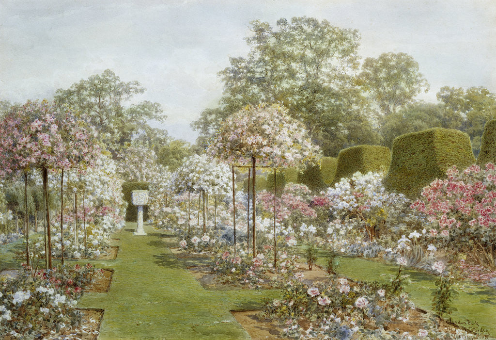 Detail of The Rose Garden, Clandon Park, Surrey, England by Thomas H. Hunn