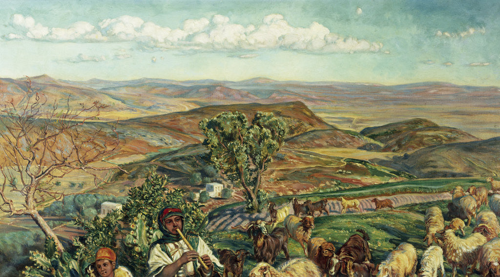 Detail of Plain of Esdraelon from Heights Above Nazareth, Israel by William Holman Hunt