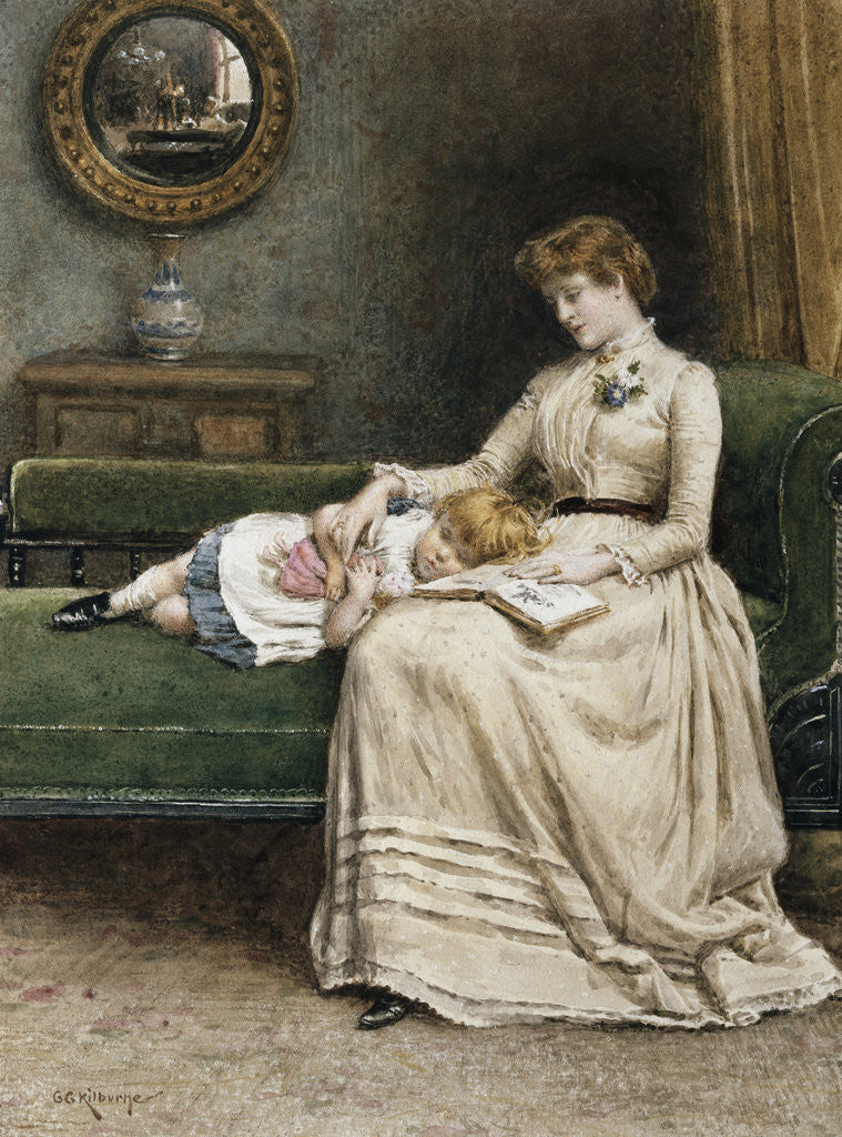 Detail of A Quiet Read by George Goodwin Kilburne