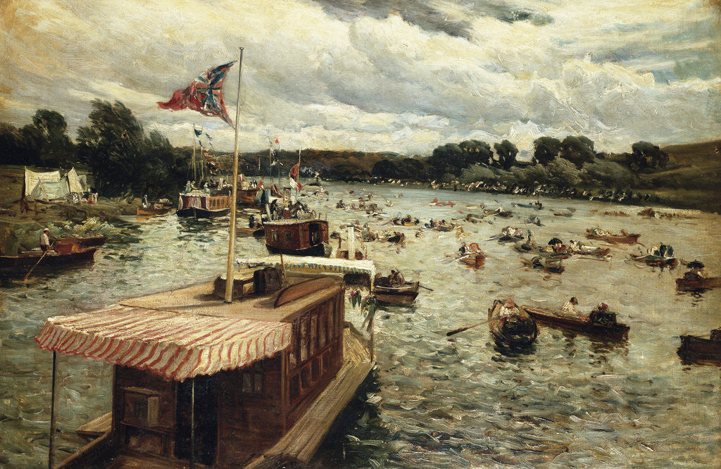 Detail of Henley Regatta, England by Alfred de Breanski