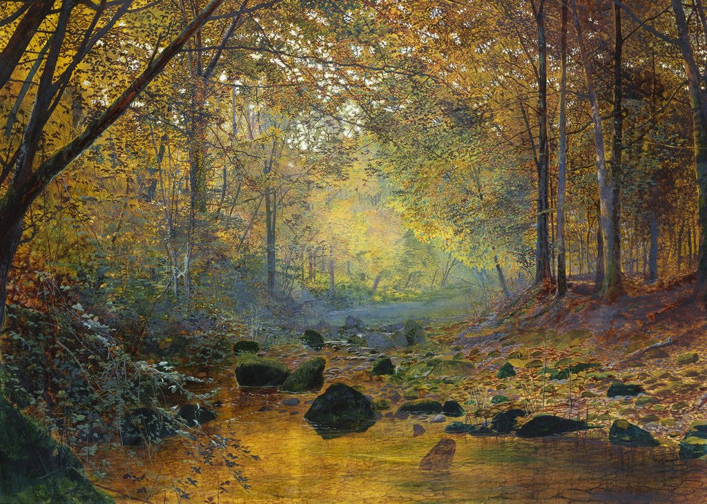 Detail of On the River Greta, Lake District, England by John Atkinson Grimshaw