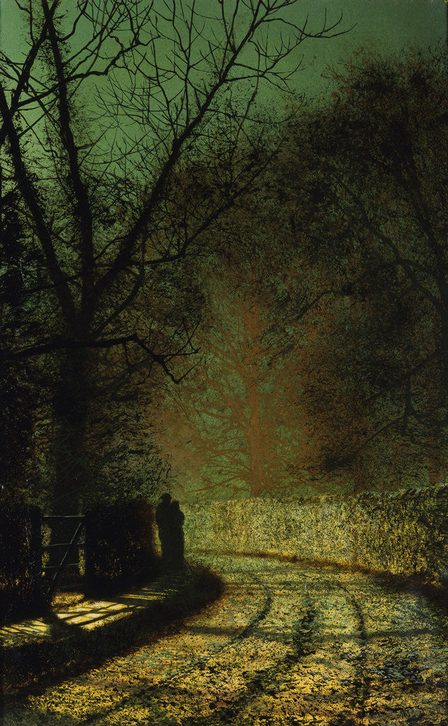 Detail of The Lovers by John Atkinson Grimshaw