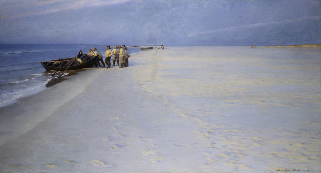 Detail of Fishermen on the Beach at Skagen, Denmark by Peder Severin Kroyer