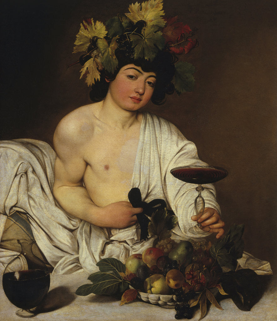 Detail of Bacchus by Caravaggio