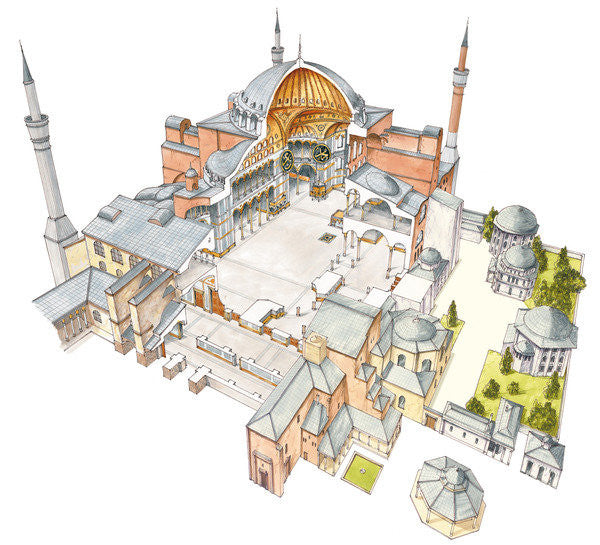 Detail of Hagia Sophia. Istanbul, Turkey by Fernando Aznar Cenamor