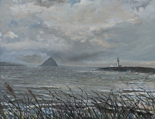 Detail of Ailsa Craig from Arran, 2007, by Vincent Alexander Booth