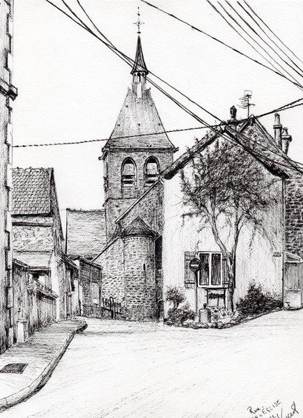 Detail of Church in Laignes,France by Vincent Alexander Booth