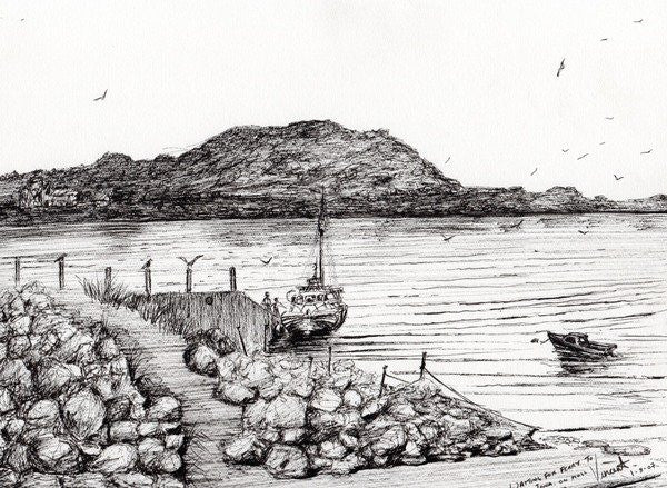Detail of Iona from Mull, Scotland by Vincent Alexander Booth