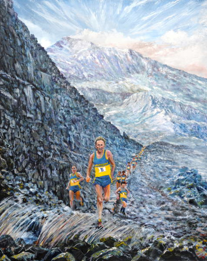 Detail of Snowdon run, 2019 by Vincent Alexander Booth