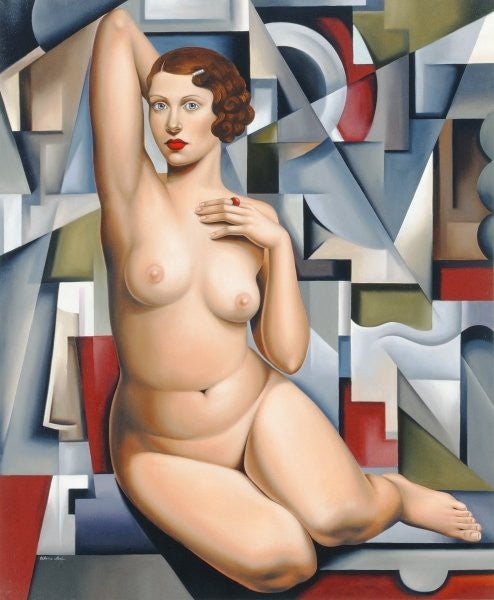 Detail of Seated Cubist Nude by Catherine Abel