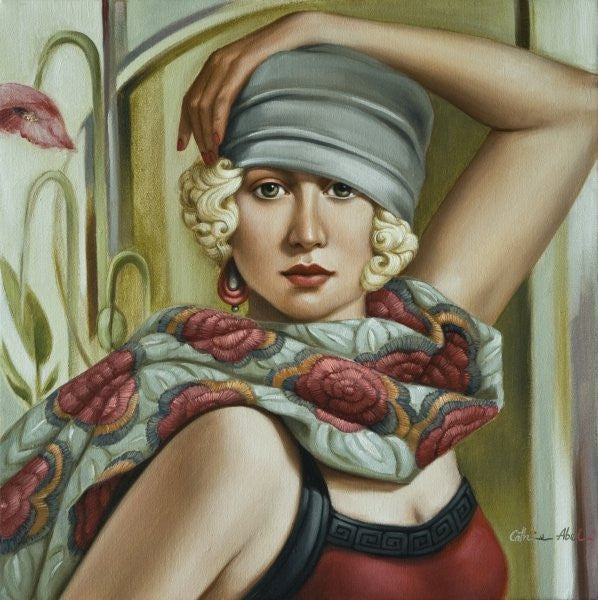 Detail of Grey Cloche by Catherine Abel