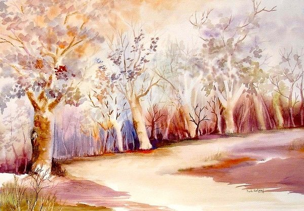 Detail of Pathway with Trees by Neela Pushparaj
