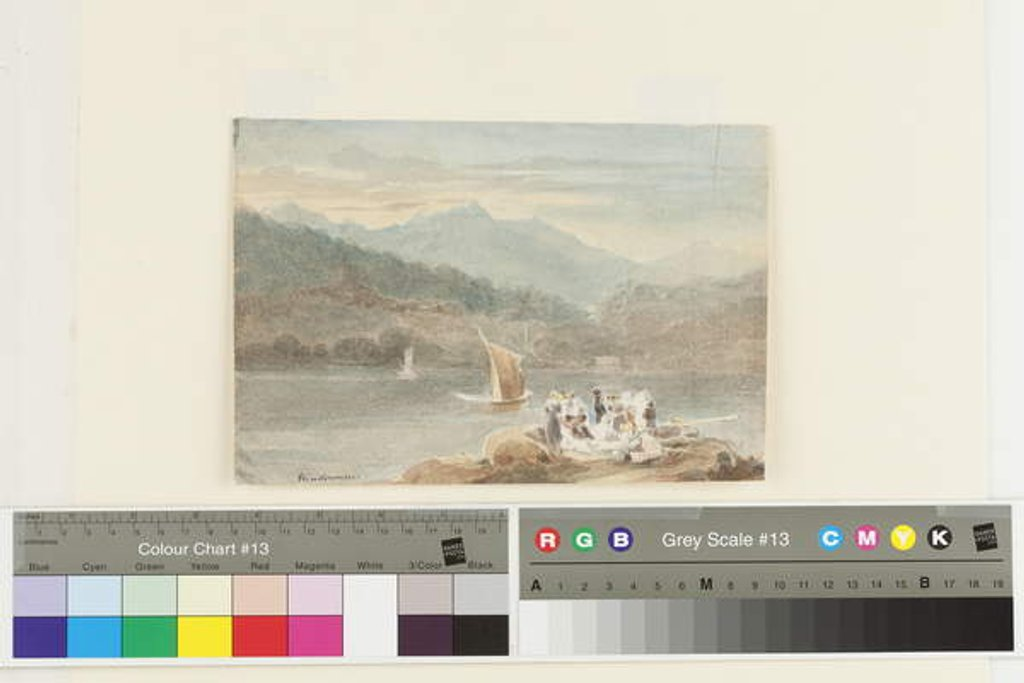 Detail of Picnic at Windermere looking towards Brathay by John Harden