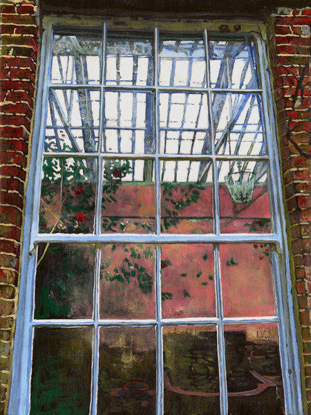 Detail of The orangery window by Helen White