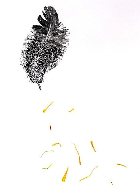 Detail of Feather {Fay-erie Dust} by Bella Larsson