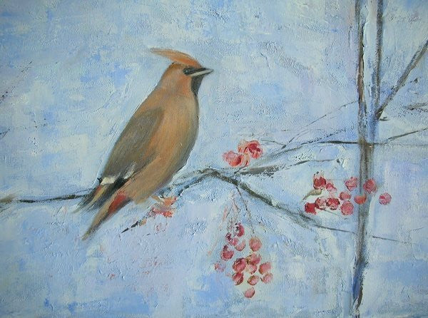 Detail of Waxwing (detail) by Ruth Addinall