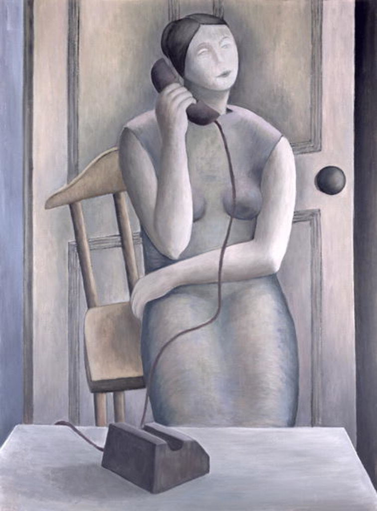 Detail of Woman on Phone by Ruth Addinall