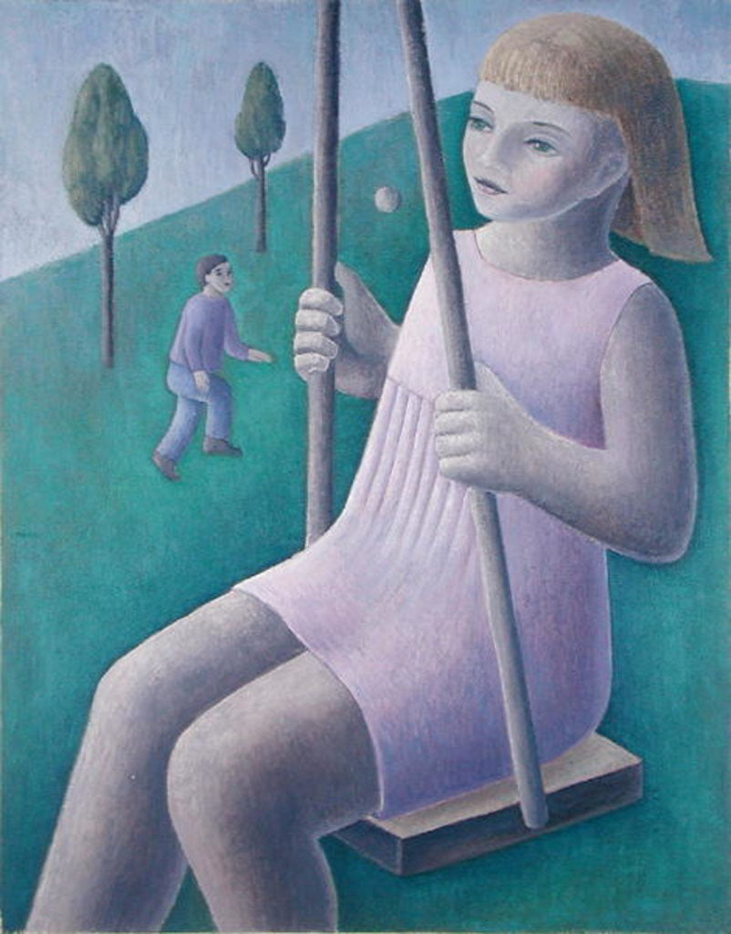 Detail of Girl on Swing by Ruth Addinall
