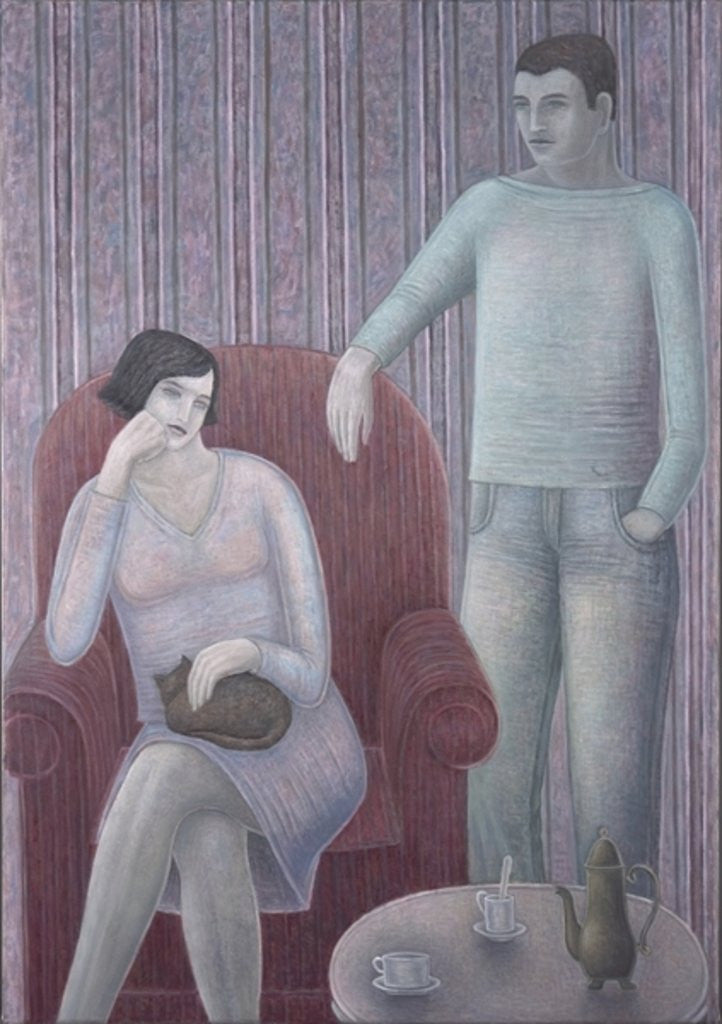 Detail of Couple with Cat by Ruth Addinall