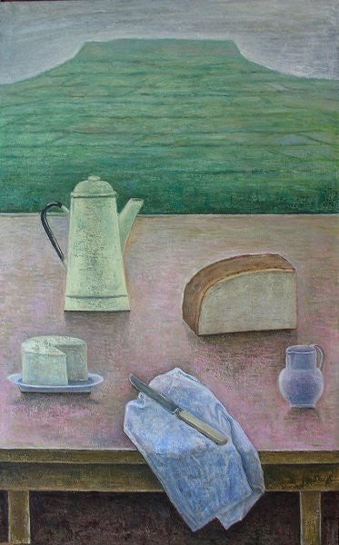 Detail of Still Life with Wensleydale Cheese by Ruth Addinall