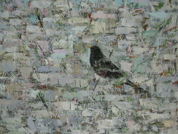 Detail of Blackbird in Tree (detail) by Ruth Addinall
