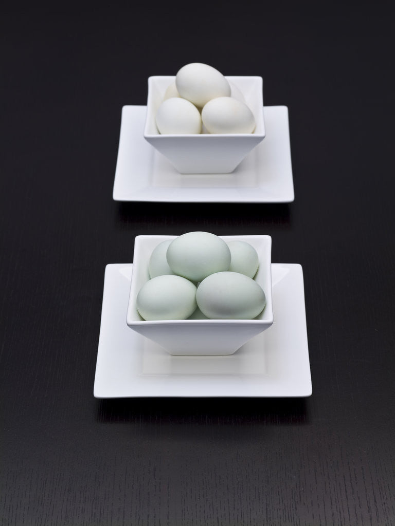 Detail of Asia, Eggs in bowl, elevated view by Assaf Frank