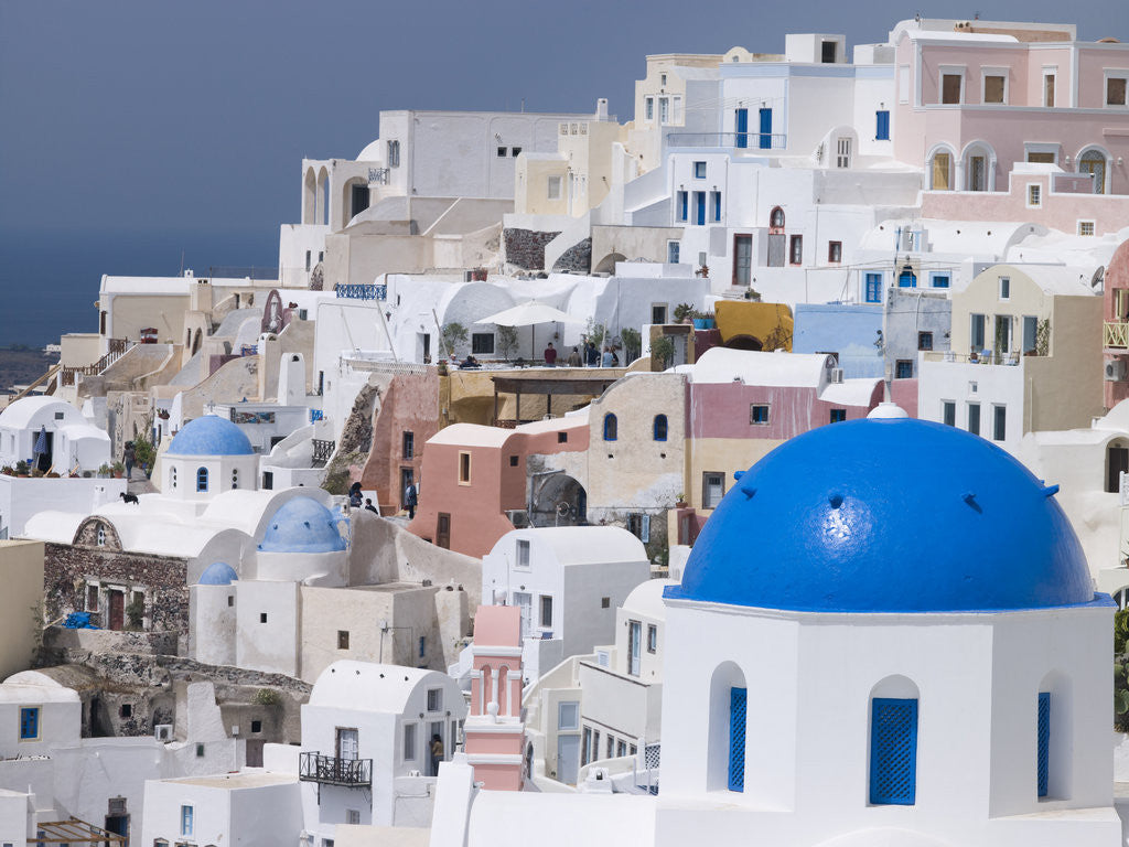 Detail of Greece, Cyclades. Santorini Island. View of Oia by Assaf Frank