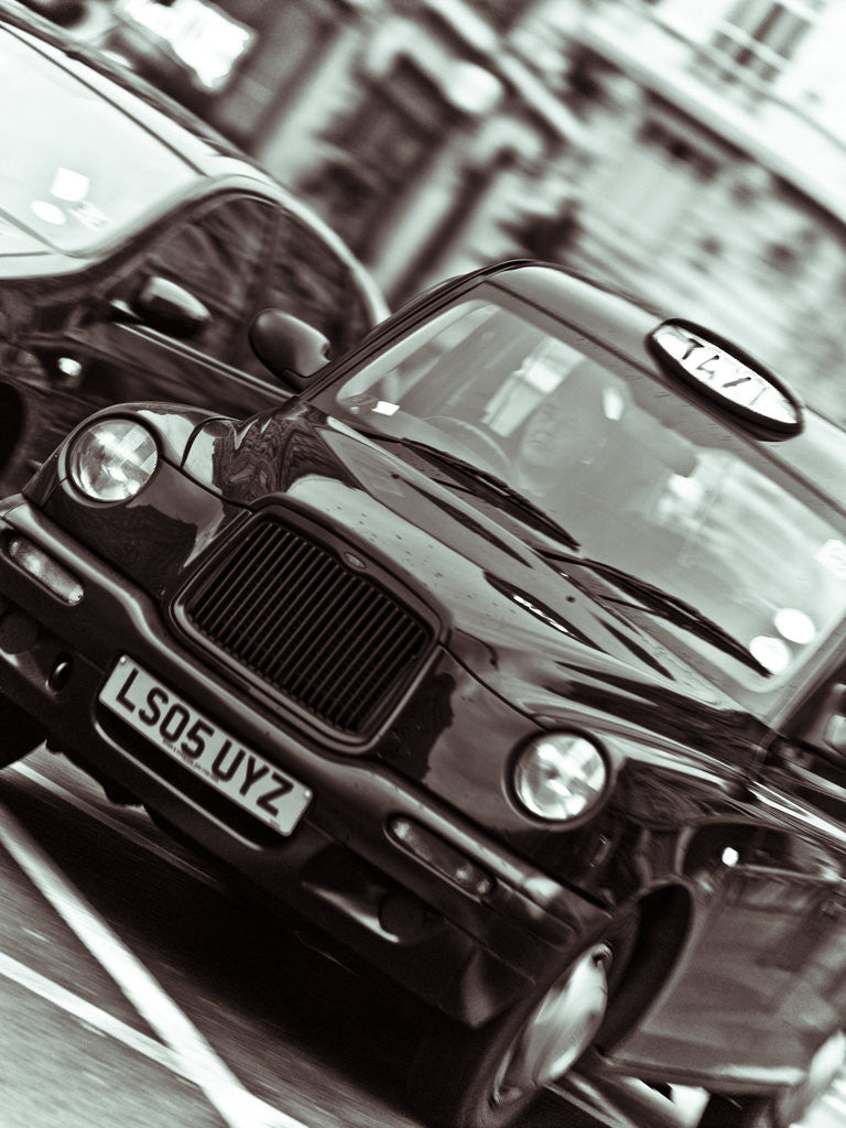 Detail of Black Cab London Taxi by Assaf Frank
