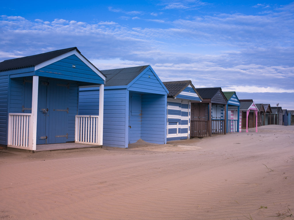 Detail of Beach Huts, West Wittering Beach, UK by Assaf Frank