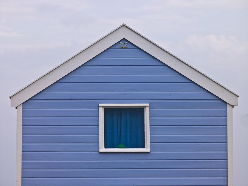 Detail of Beach hut close-up by Assaf Frank