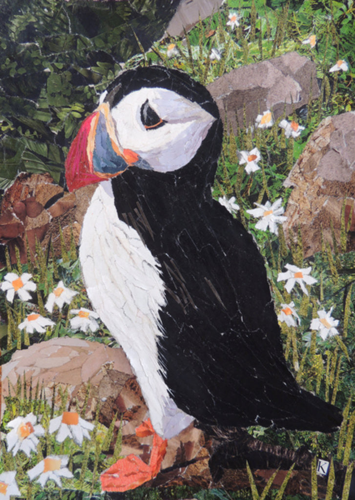 Detail of Puffin by Kirstie Adamson