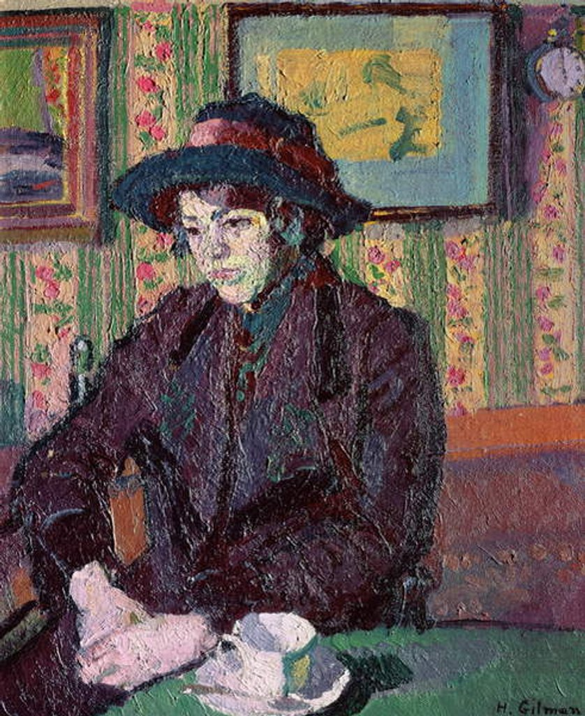 Detail of The Tea Cup by Harold Gilman