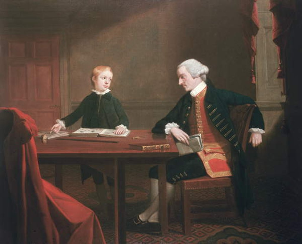 Detail of Samuel Smith and his Son William, c.1770 by Mason Chamberlin